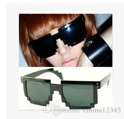 bc643ec0b0ce 15 Colour Mosaic Sunglasses Code Programmer Pixelated 8 Bit Black Sunglasses  CPU Gamer Geek ABC90  Mens Eyeglasses Sport Sunglasses From Emma12345