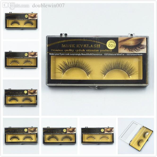 Premium Quality False Eyelashes Handmade Natural Long Thick Mink Eyelashes Soft Fake Eye Lash extensions Black Terrier Full Strip Lashes