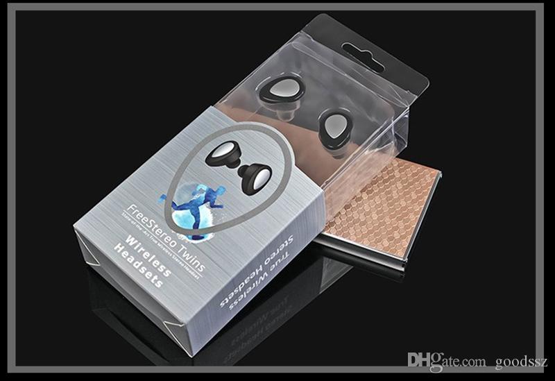 최신 TWS K2 쌍둥이 진실한 무선 Bluetooth 이어폰 V4.1 iPhone를위한 MIC를 가진 책임 소켓을 가진 입체 음향 헤드폰 Smartphone