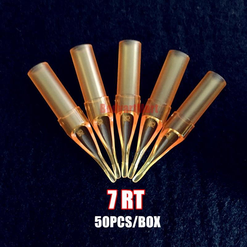 Wholesale New RT7 Yellow Tattoo Round 7 Tip Nozzle Gold Shark ...