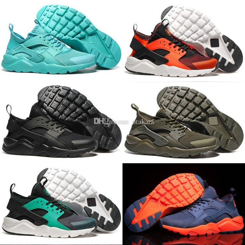 quality design e0078 92c23 Acquista 2016 Huarache 4 IV Scarpe Da Corsa Le Donne Degli Uomini, Air Red  Green Sneakers Di Alta Qualità Mens Huaraches Outdoor Scarpe Da Ginnastica  ...