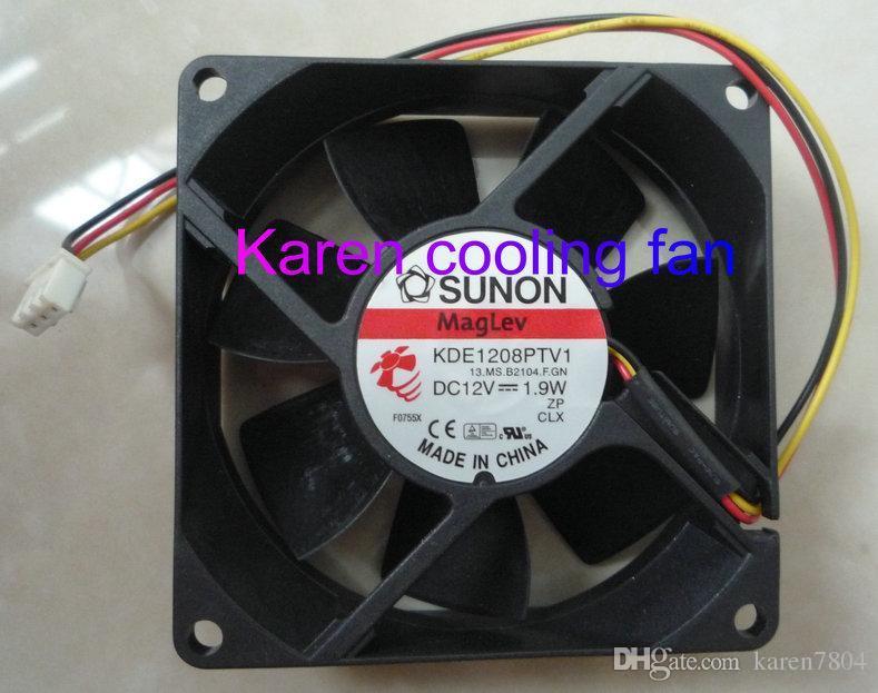Nuovo originale Sunon KDE1208PTV1 12V 1.9W 80 * 80 * 25MM Ventola di raffreddamento a 3 fili