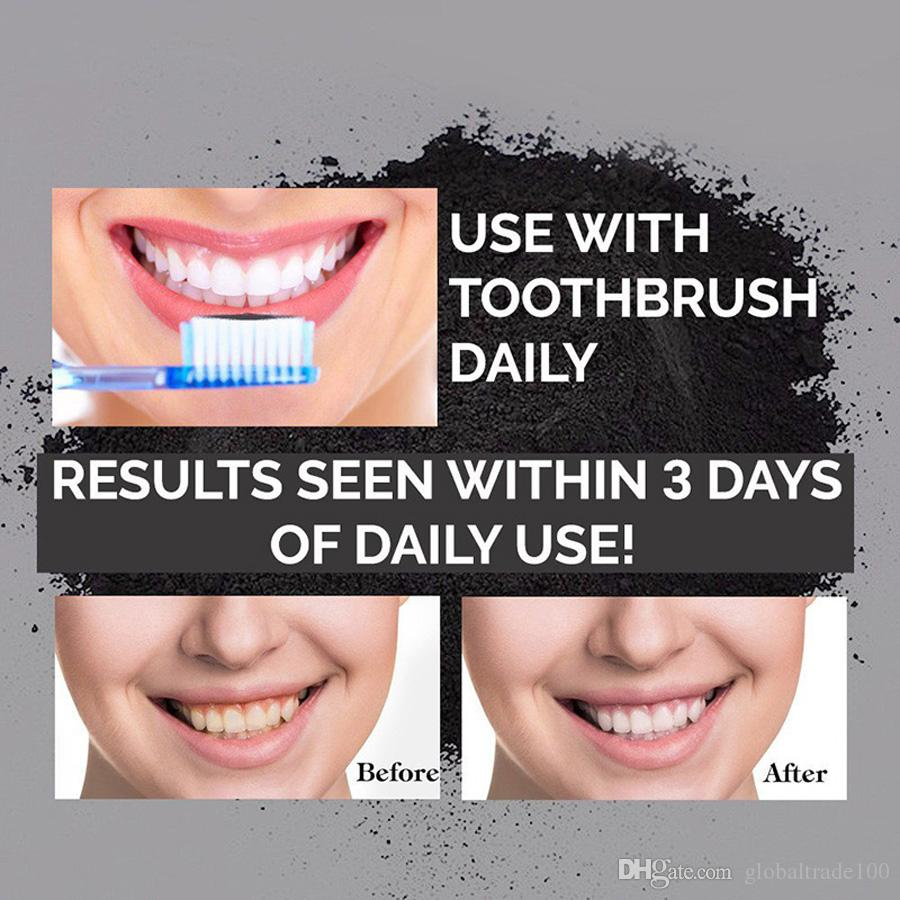Tooth Whitening Nature Bamboo Activated Charcoal Smile Powder Decontamination Tooth Yellow Stain Bamboo Toothbrush Toothpaste Oral Care