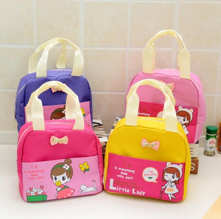 kids lunch bags Character printed children cute snack bags girls boys food packages woman children outside handbags