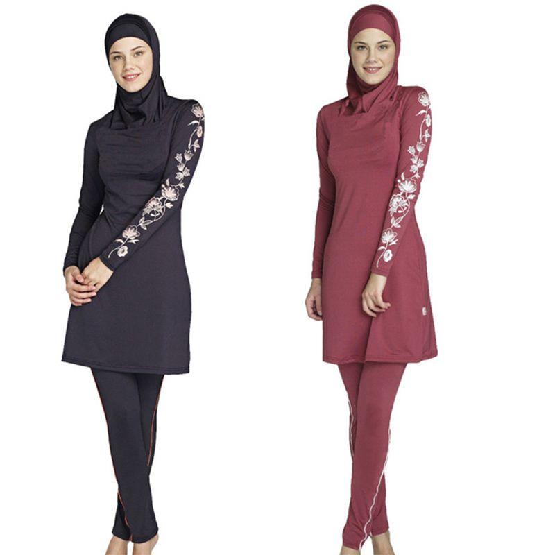 1b1e2db02d 2019 Muslim Swimwear Islamic Swimsuits For Muslima Covered Swimsuits  Burkini Long Sleeve Beach Wear Plus Size S 4XL From Welove2, $31.59 |  DHgate.Com