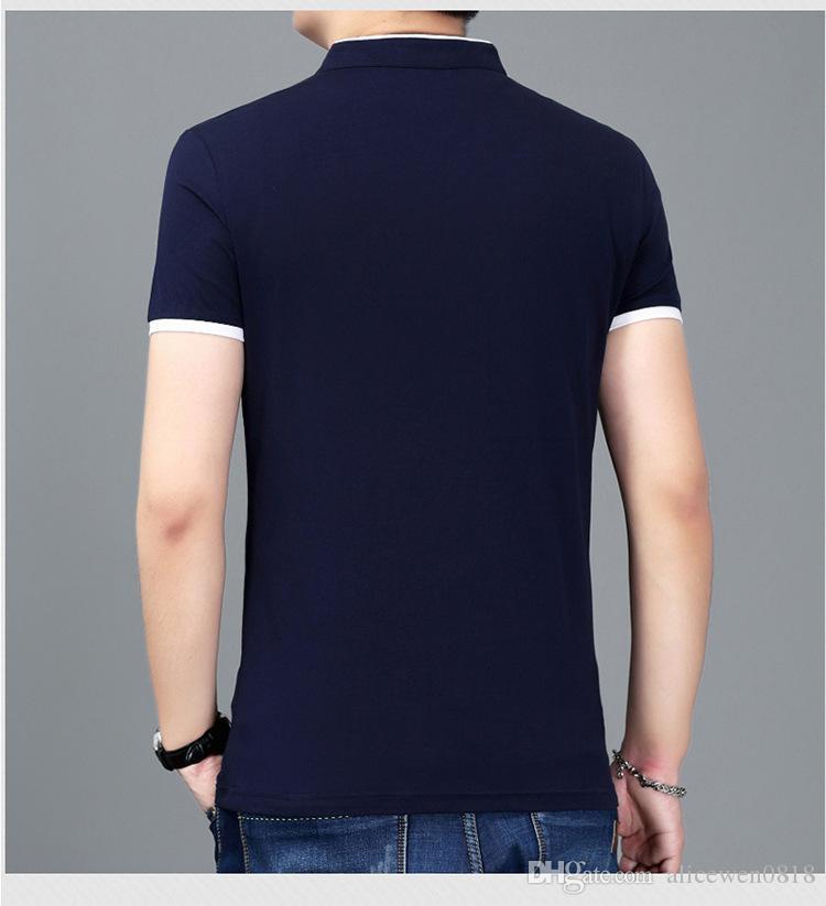 Maglietta del manicotto del bicchierino del manicotto di nuovo modo di estate 2017 di estate collo di collo a V di svago di modo M ~ 4XL vestiti della maglietta del collare del basamento puro
