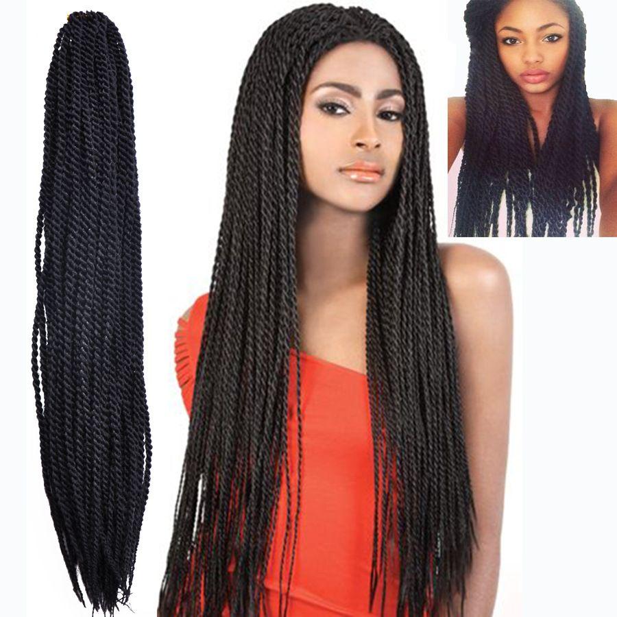 Senegal Braid Hair Crochet 2x Thin Senegalese Twist Synthetic Hair