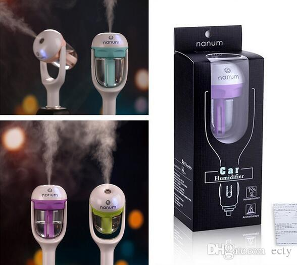 12V Car Humidifier Nanum Air Conditioners Purifier Aroma Diffuser Essential Oil Diffuser For Aromatherapy Mist Maker Ultrasonic