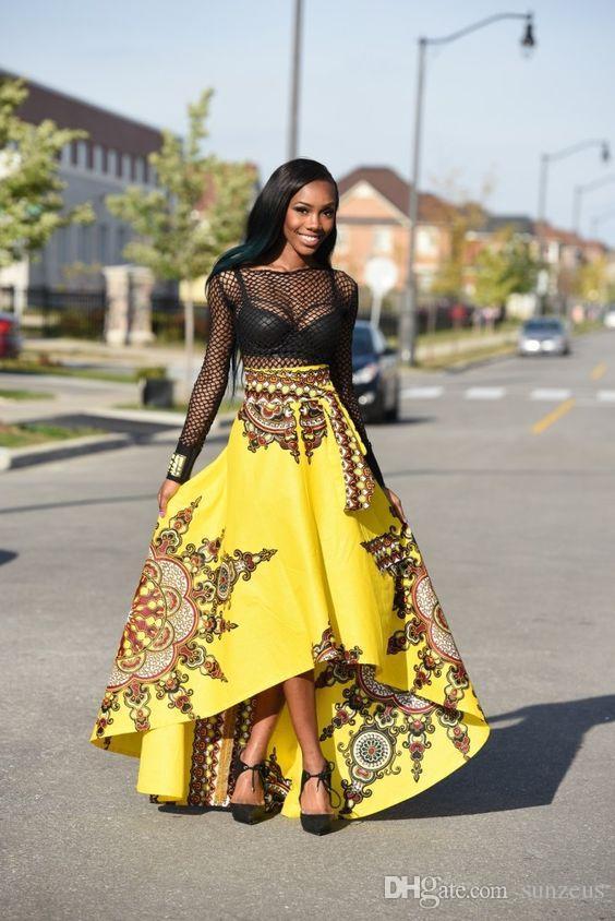 b497f69282c1 2019 Asymmetrical High Waist Bohemian Long Skirt For Girls Floral Print  Summer Beach Skirt African Prom Dress Skirt 2017 From Sunzeus, $20.71    DHgate.Com