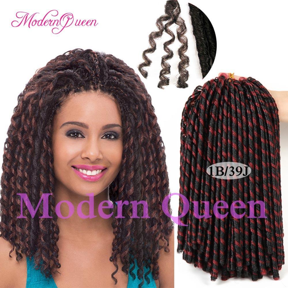 Cheap Soft 14inch Faux Locs Crochet Hair Dreadlocks Braids Havana