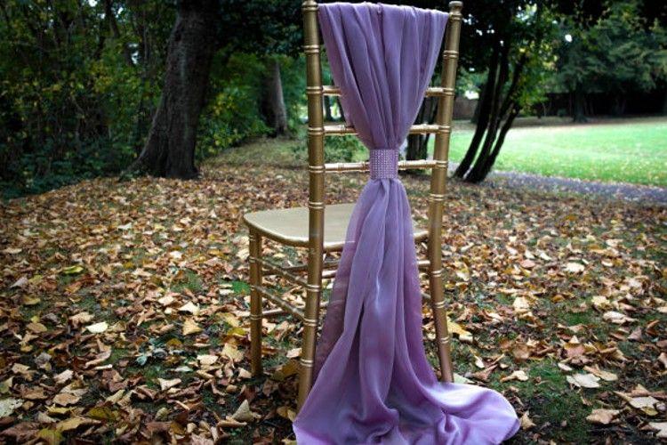 Ivory White Flowy abito da sposa telai della sedia su ordine di celebrazione della festa di compleanno decorazione eventi sedia archi Chair Covers 75 * 200 cm