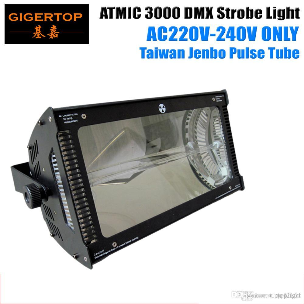 Free Shipping Sample 220V-240V Atomic 3000W Martin Strobe Light Led Stage  Effect Lighting For DJ Equipment DMX512 4CHs Led Flash Light