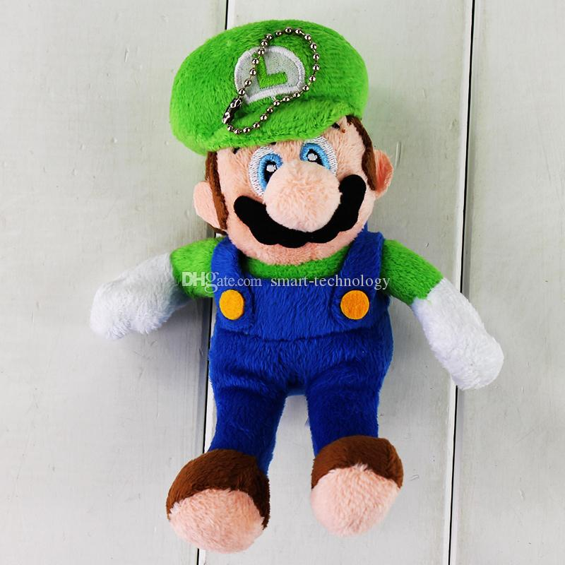 15cm Super Mario Mario Luigi Keychain Pendants Plush Soft Stuffed Doll Toy for kids gift