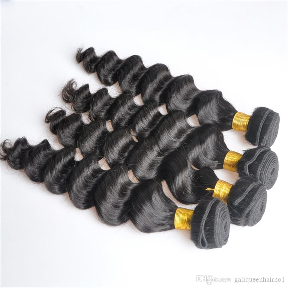Indian Virgin Human Hair Loose Deep Wave Unprocessed Remy Hair Weaves Double Wefts 100g/Bundle 1bundle/lot Can be Dyed Bleached