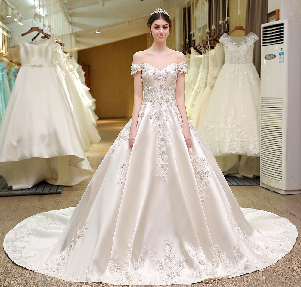 Großhandel Dsl Real Fotos 82 Sweetheart Bling Brautkleider Designer ...