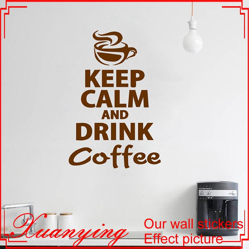 Coffee Kitchen Wall Stickers Murax Vinyl Wall Sticker Kitchen Coffee Shop  Walls Decals Home Decor House Decoration Wall Art Wall Sticker Quote Wall  Sticker ...