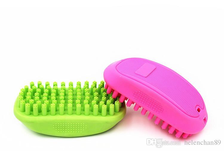 Pet Shampoo Brush Anti-skid Rubber Dog Cat Grooming Shower Bath Brush Massage Comb for Long & Short Hair Dogs Cats