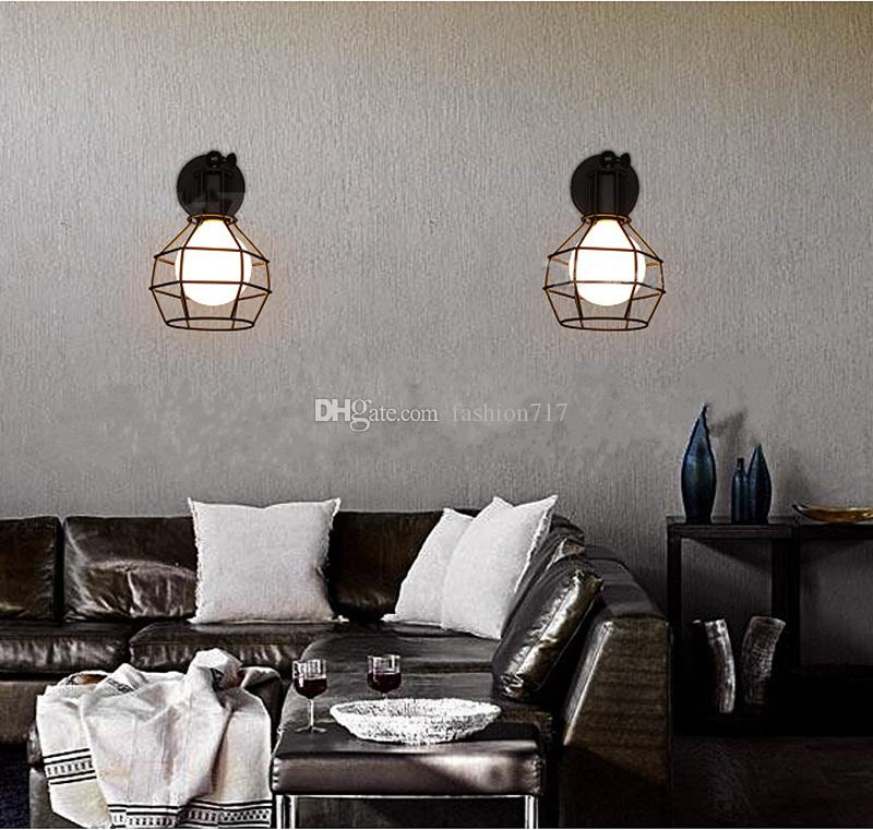 Vintage Iron American Wall Lamp Modern Black Wall Lights For Bedroom Hallway Sconce Retro Indoor Wall Lamp For Reading