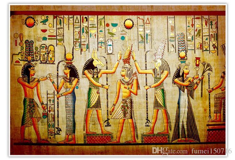Großhandel-Wandbilder-3d Tapeten Wohnkultur Foto Hintergrundbild Alte ägyptische Zivilisation Maya Ältesten Hotel große Wandkunst Wandbild
