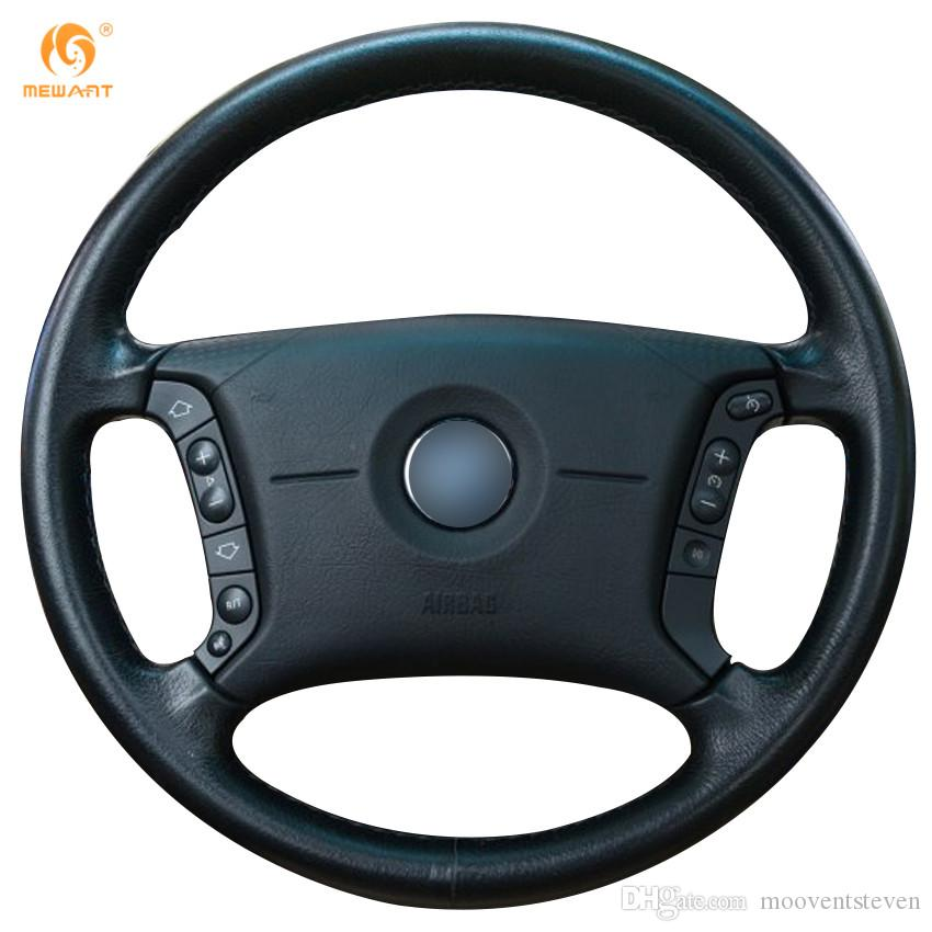 Mewant Black Artificial Leather Car Steering Wheel Cover For Bmw - Bmw 325i steering wheel