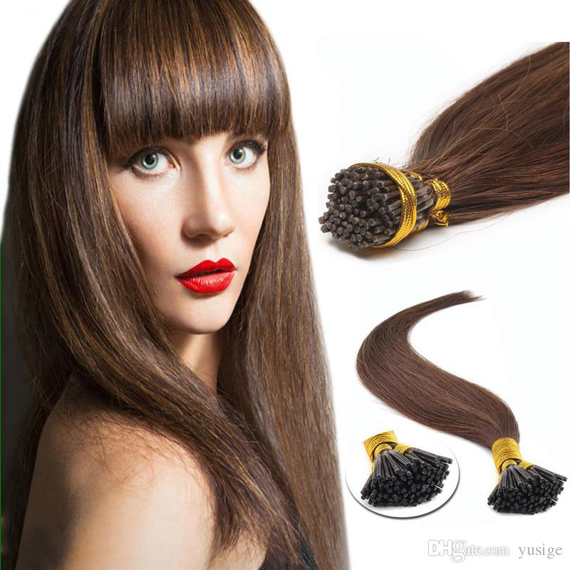 Factory Price I Tip Indian Remy Human Hair Extensions 1gpcs Full