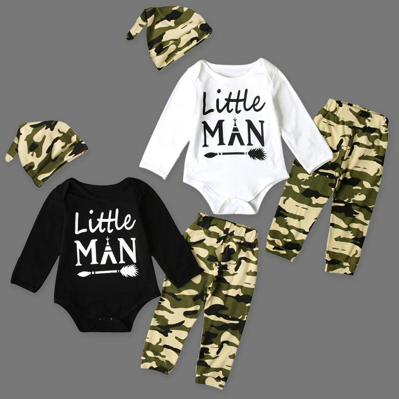 477052e5c5794 baby boys rompers spring autumn long sleeve jumpsuit kids print letter boy  clothing sets