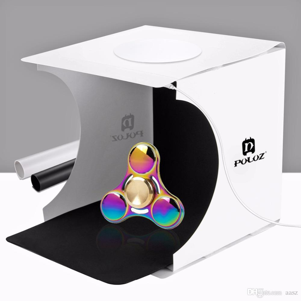 20*20cm 8 Mini Folding Studio Diffuse Soft Box Lightbox With Led Light Black White Photography Background Photo Studio Box Consumer Electronics Camera & Photo Accessories