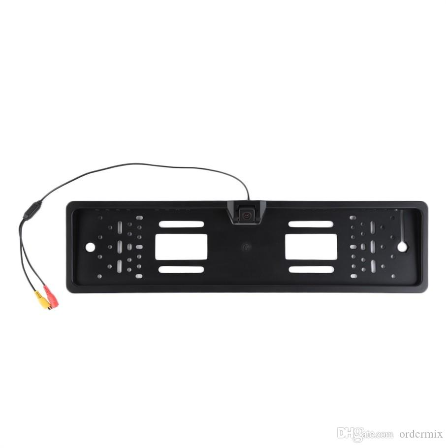Wired License Plate Frame Car Auto Rear View Backup Camera Night Vision Reverse Parking Camera