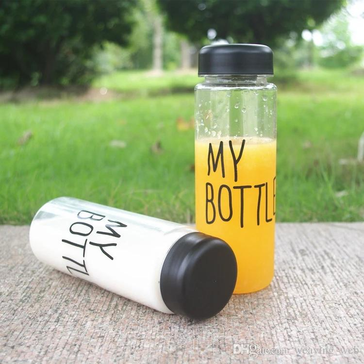 New Arrival My bottle water Bottle Korea Style Plastic Sports Water Bottles Drinkware With Bag Retail Package