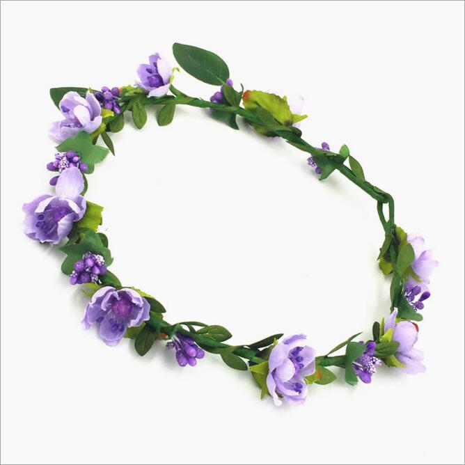 Bohemian Haar Kronen Blume Stirnbänder Frauen Künstliche Floral Haarbänder Mode Headwear für Mädchen Haarschmuck Strand Hochzeit Girlanden