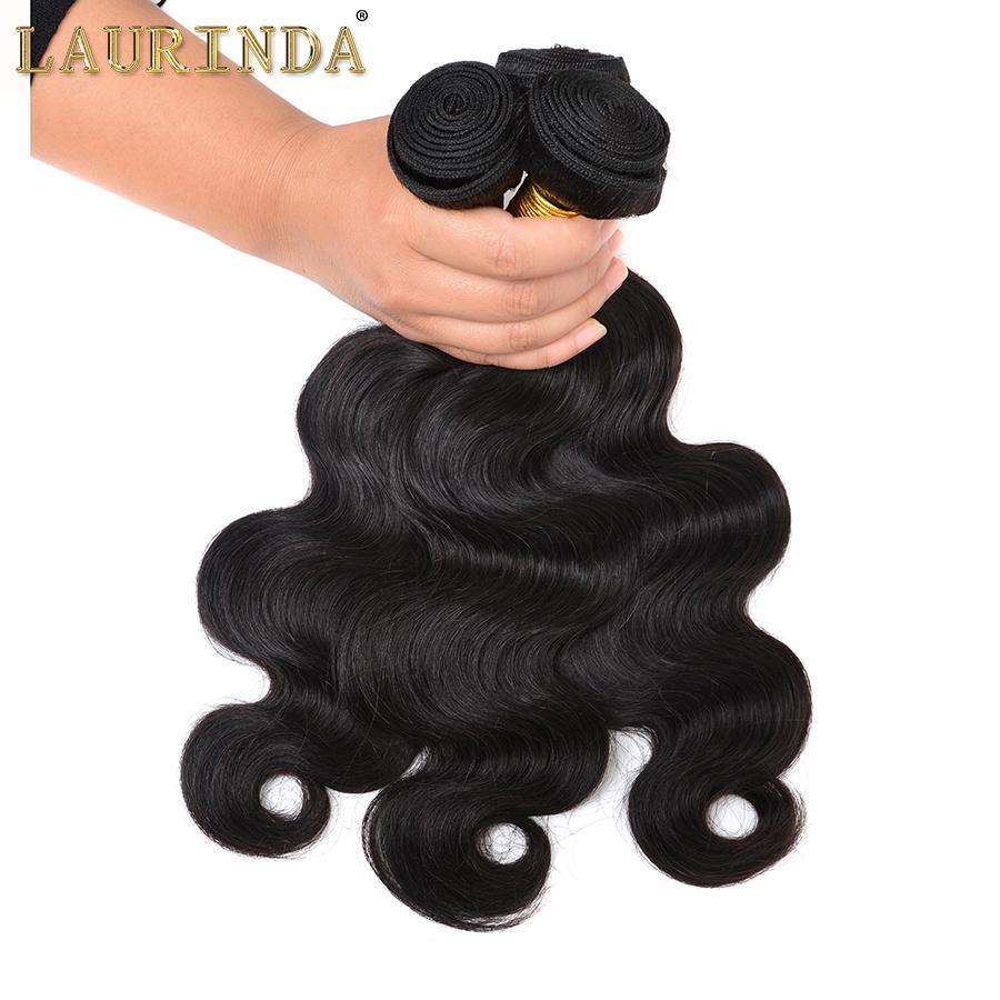 Бразильский Virgin Body Wave 3 Связка с кружевом Фронтальной Закрытие Необработанных бразильского человеком Связкой волос с фронтальным Modern Show Hair