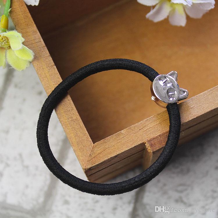 Новые корейские модные женские аксессуары для волос Симпатичные черные эластичные ленты для волос Девушка для волос Резинка для волос Веревка Резинка Резинка