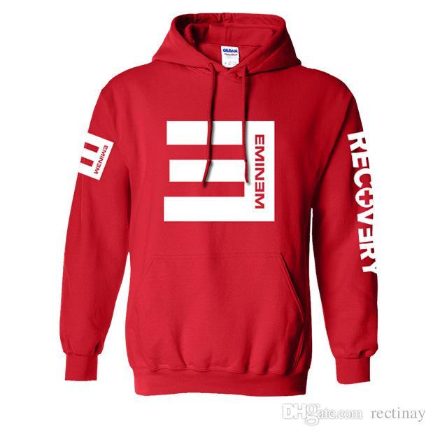 Eminem RECUPERAÇÃO NÃO RECEBE Moletom Com Capuz Nova Moda Camisola para homem e menino de Algodão Hoodies