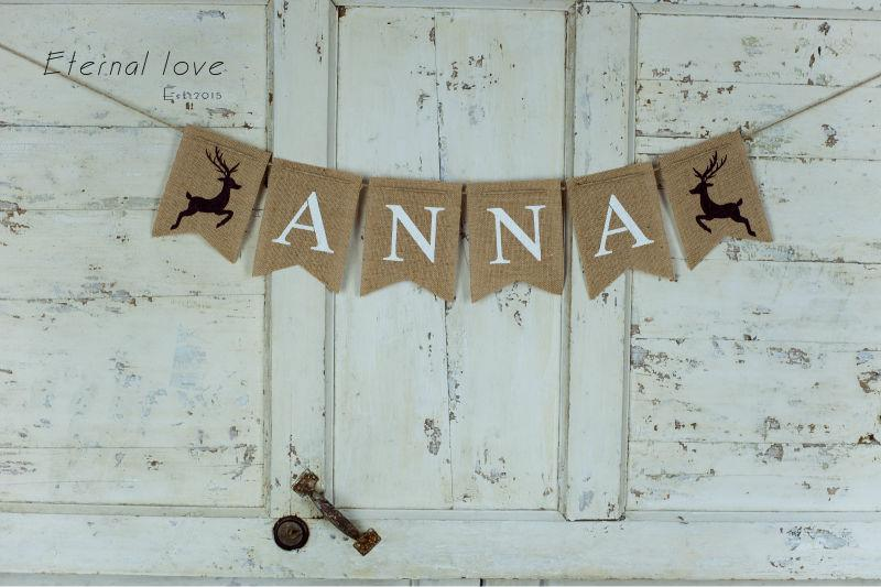 online cheap wholesale personalized reindeer burlap bannerreindeer name bannerpersonalized christmas bannerchristmas nursery decorreindeer banner by - Burlap Christmas Banner