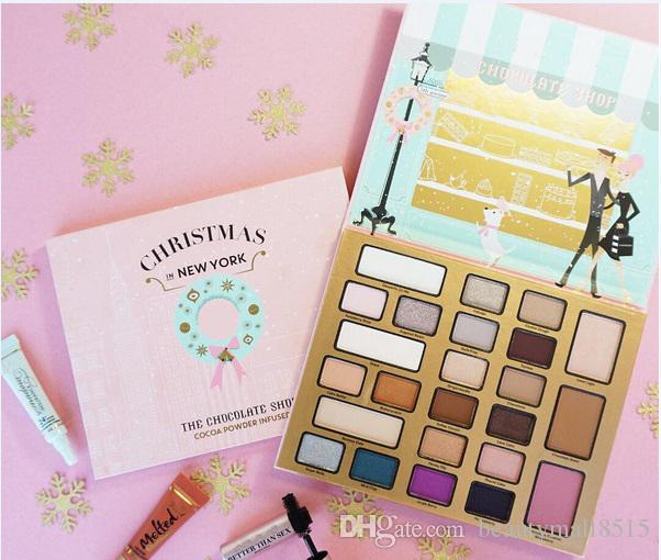 The Chocolate Shop Makeup Set 21 Eye Shadow 2 Face Bronzer 1 Blush Christmas In New York Holiday Cosmetics Collection Spedizione gratuita