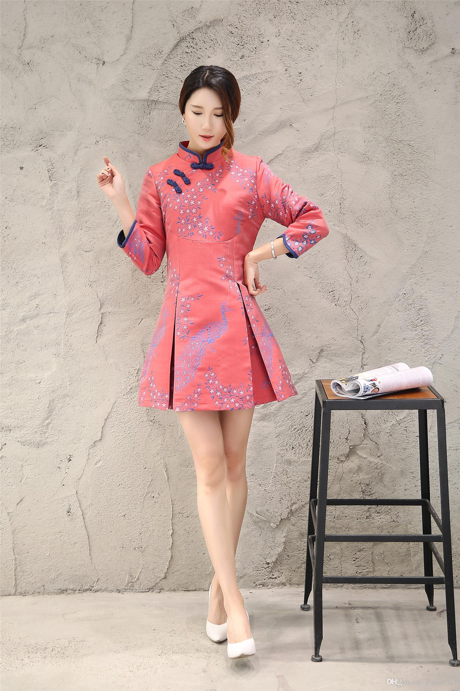 Shanghai Story 3/4 Sleeve Cheongsam Chinese Traditional Clothing ...