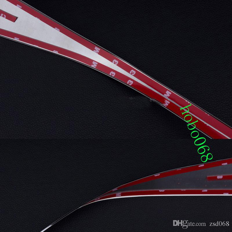 2x автомобиль авто 304 из нержавеющей стали спойлер задний декоративный хвост отделкой рама для Cadillac SRX 2010-2015