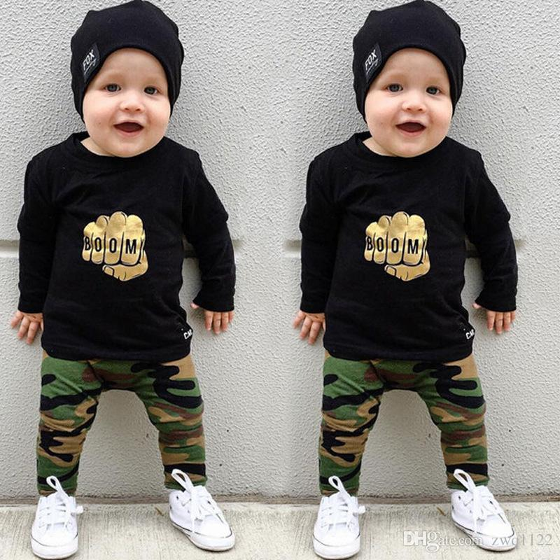 ee215aaed 2019 INS Baby Autumn Christmas Clothing Sets Kids Boys Girls Long Sleeve  Hoodies Tops+Pants Outfits Printed Plaid Suits From Zwq1122, $7.24    DHgate.Com