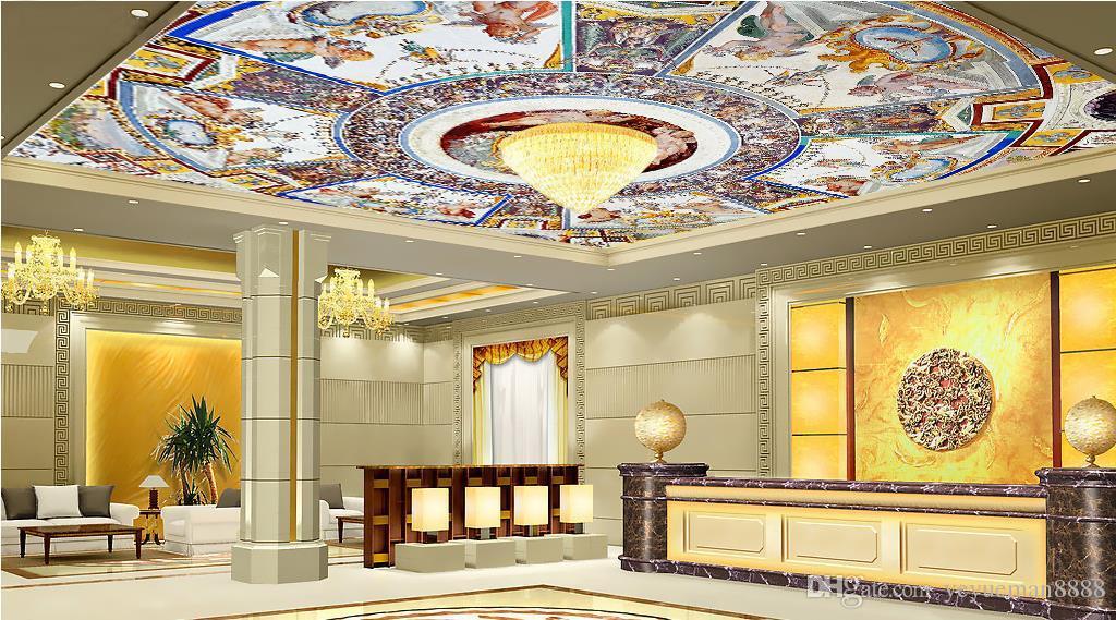 personalizzato 3d soffitto carta da parati stile europeo magnifico 3d soffitto murales carta da parati soggiorno camera da letto soffitto carta da parati