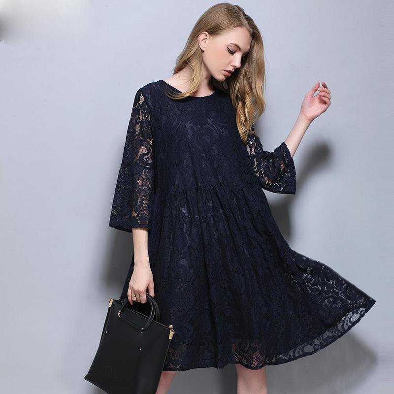 7ca85b088d7 Acheter Robe De Maternité Femmes Enceintes Lace Hollow Vêtements D été Mode  Style Européen Vêtements Grande Taille Bleu Gris Nouveau De  25.61 Du  Baby sky ...
