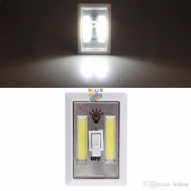 Mini COB magnético LED Interruptor de luz inalámbrico Luces nocturnas de pared Armario de cocina con pilas Armario de garaje Campamento Lámpara de emergencia