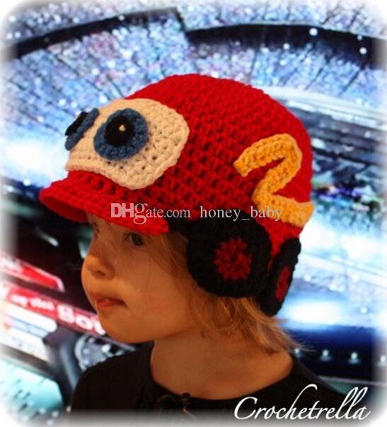 ec950e26cca 2019 Crochet Pattern Car Hat Children Newborn Infant Toddler Knitted Hat  Autumn Winter Boys Girls Kids Beanie Hallowmas Christmas Cap 100% Cotton  From ...