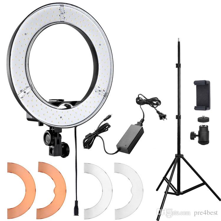 makeup light stand. 2018 youtuber led ring light panel including stand inner 235mm outer 345mm make up lights white lighting dimmable for live video from pre4best, makeup h