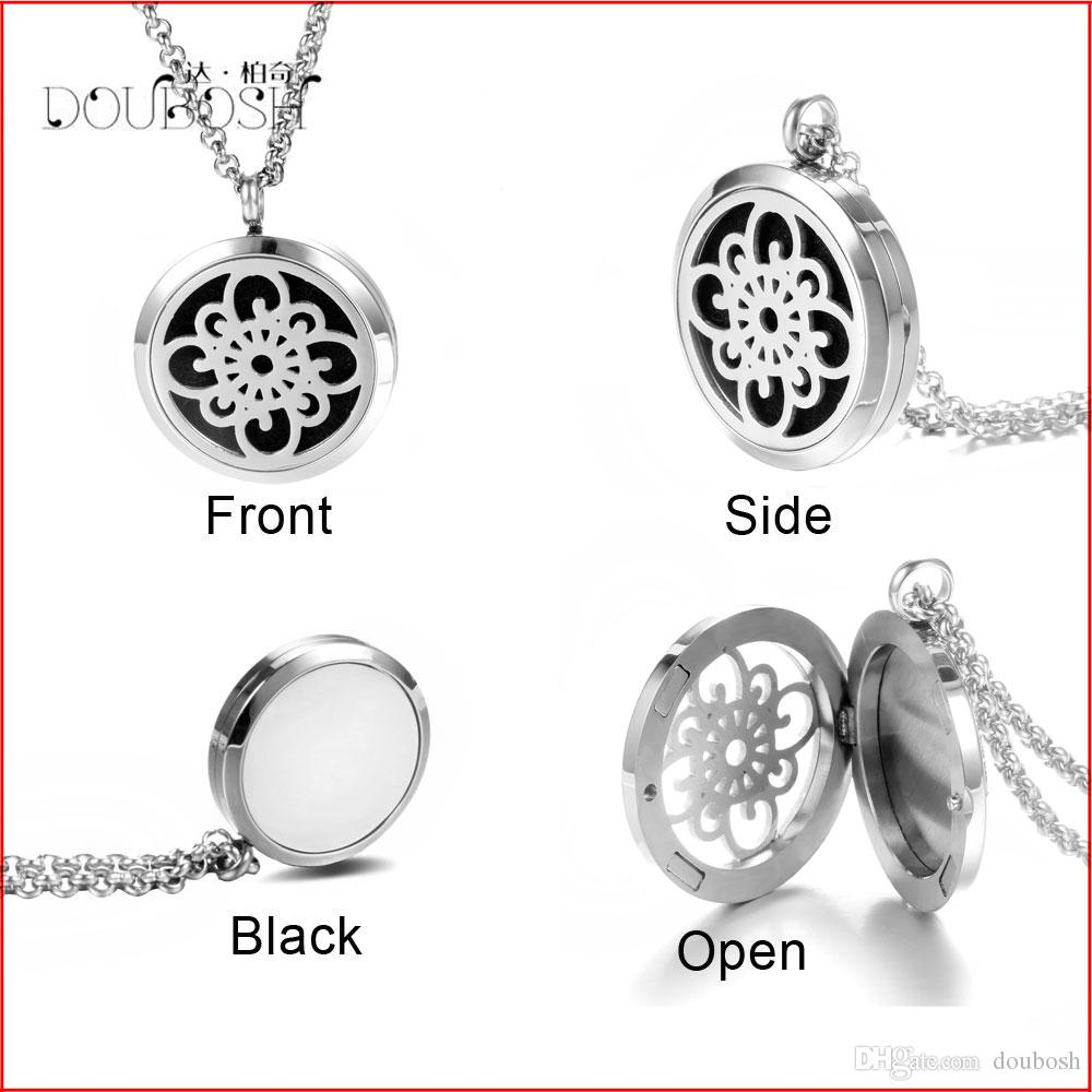 necklace photo pads and essential steel diffuser free store pendant chain perfume pendants oil lockets metal memory stainless floating locket magnetic product