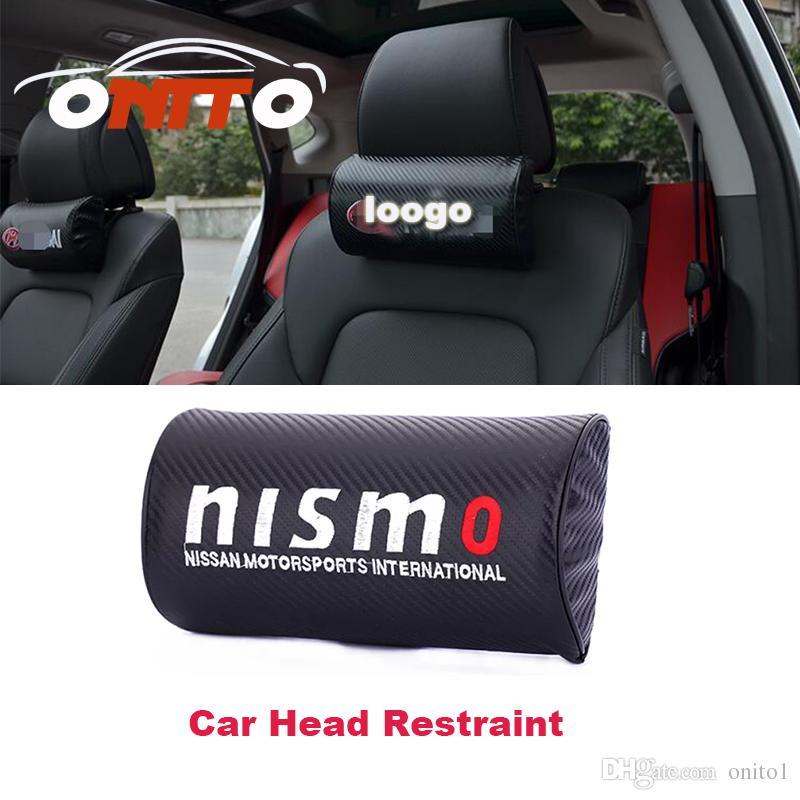 Good Practicability Carbon Fiber Leather Car Rest Protection Neck ...