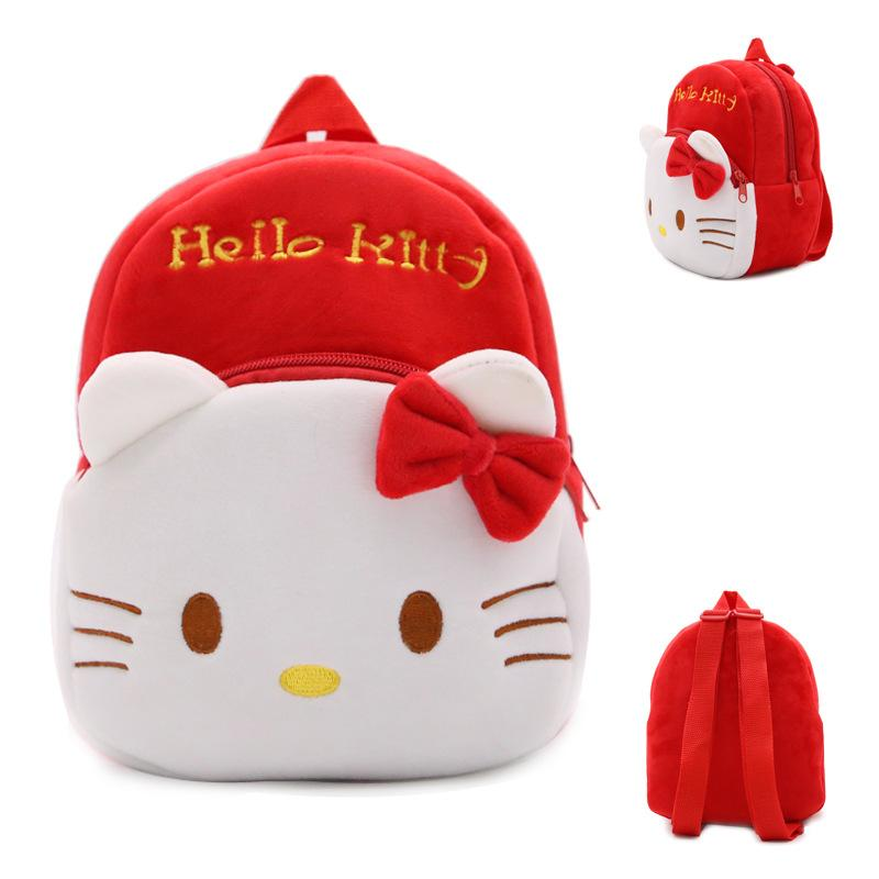 Yeni çocuk peluş sırt çantası karikatür çanta çocuk bebek okul çantaları anaokulu kızlar için sevimli Hello Kitty schoolbag hediye