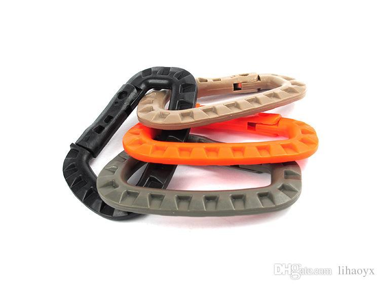 8.5cm Plastic Climbing Carabiner D-Ring Key Chain Clip Hook Camping Buckle Snap b091
