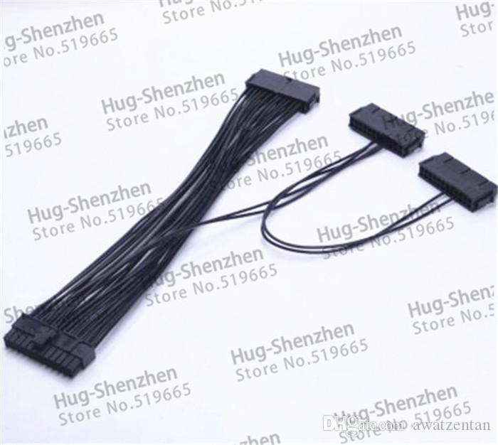 PCI-E express Power Cable ATX 24Pin  20Pin+4Pin  Triple 3 PSU Power Supply Cable CORD 18AWG Wire 30cm For BTC Miner Machine