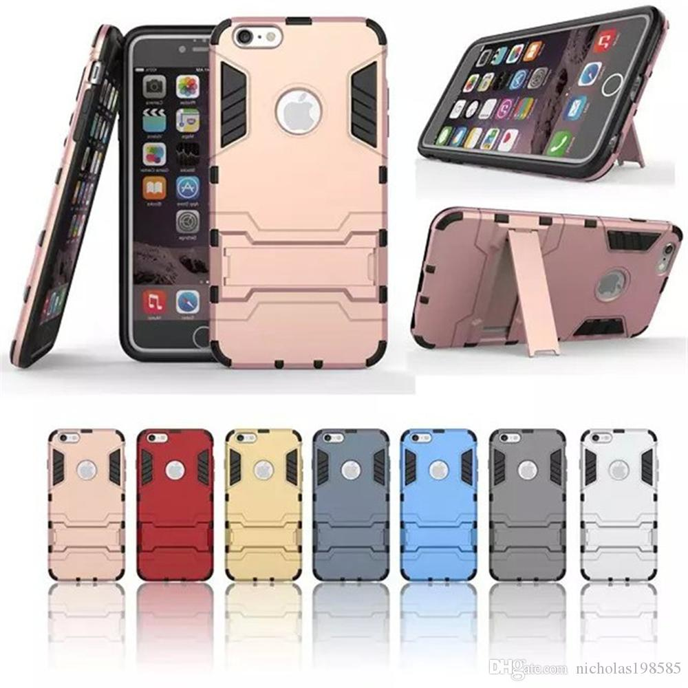 promo code 47b1c 459d4 Armor Iron Man Defense Cases Within Stand For iPhone 8 Plus iPhone X Phone  Case Back Cover Case TPU Clear Shockproof Case Phone Protector