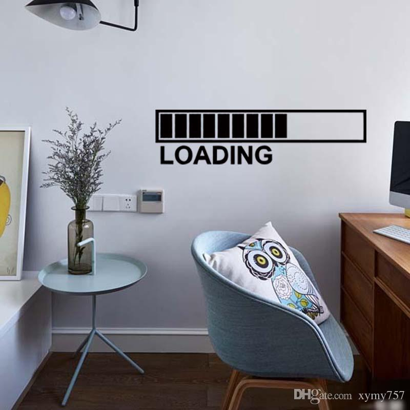Computerspiel Wandaufkleber Lade Spiele Großes Abziehbild Funny Phone Space Übertragbare Art Vinyl Decor Diy
